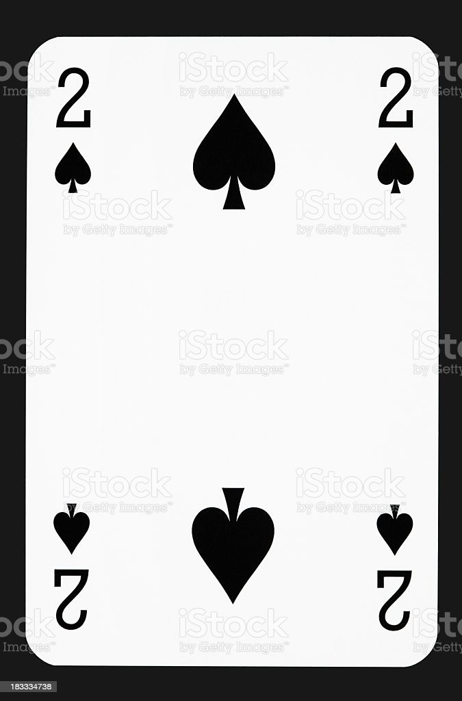 Two of spades stock photo