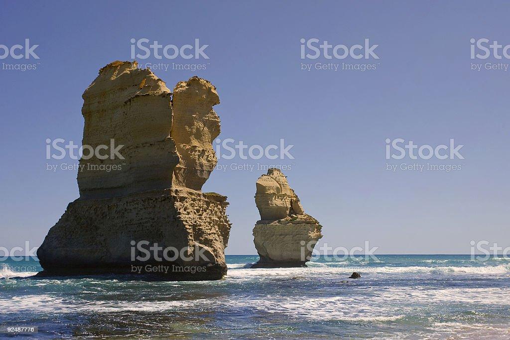Two of the twelve apostles stock photo