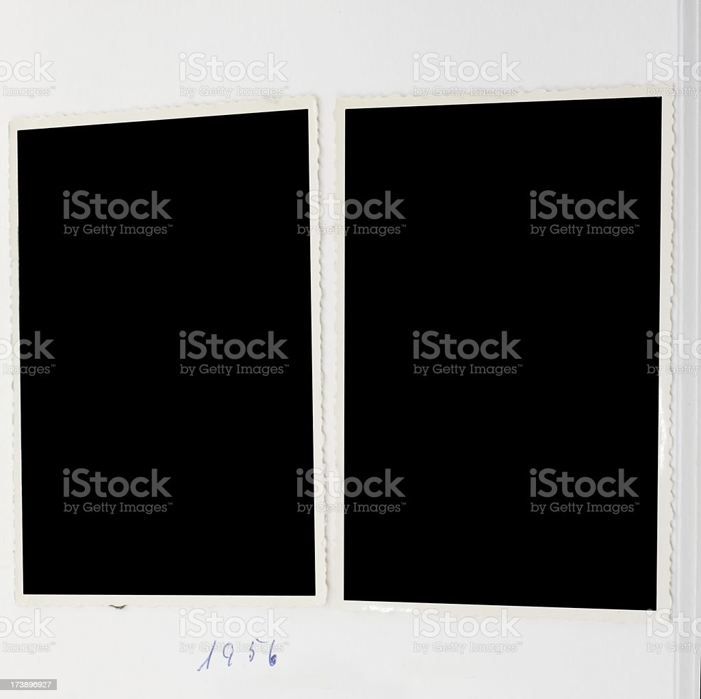 two  old blank images royalty-free stock photo