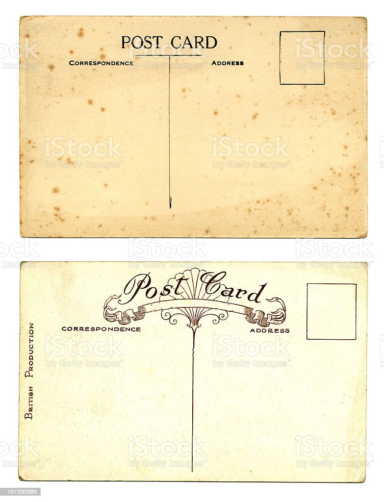 Two old British postcards royalty-free stock photo