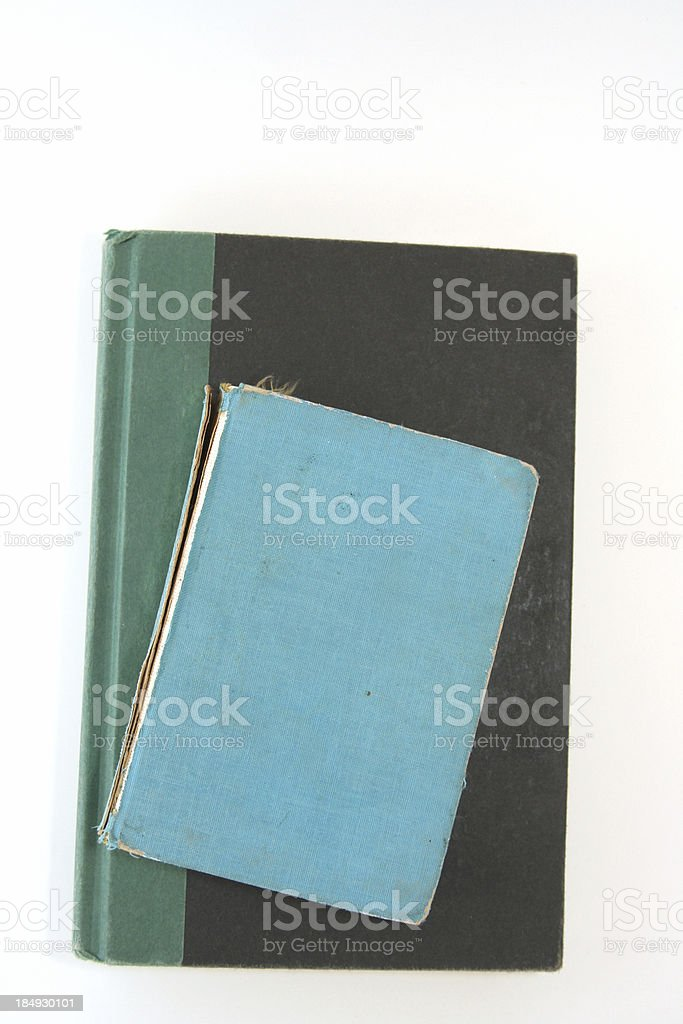 two old colorful books royalty-free stock photo