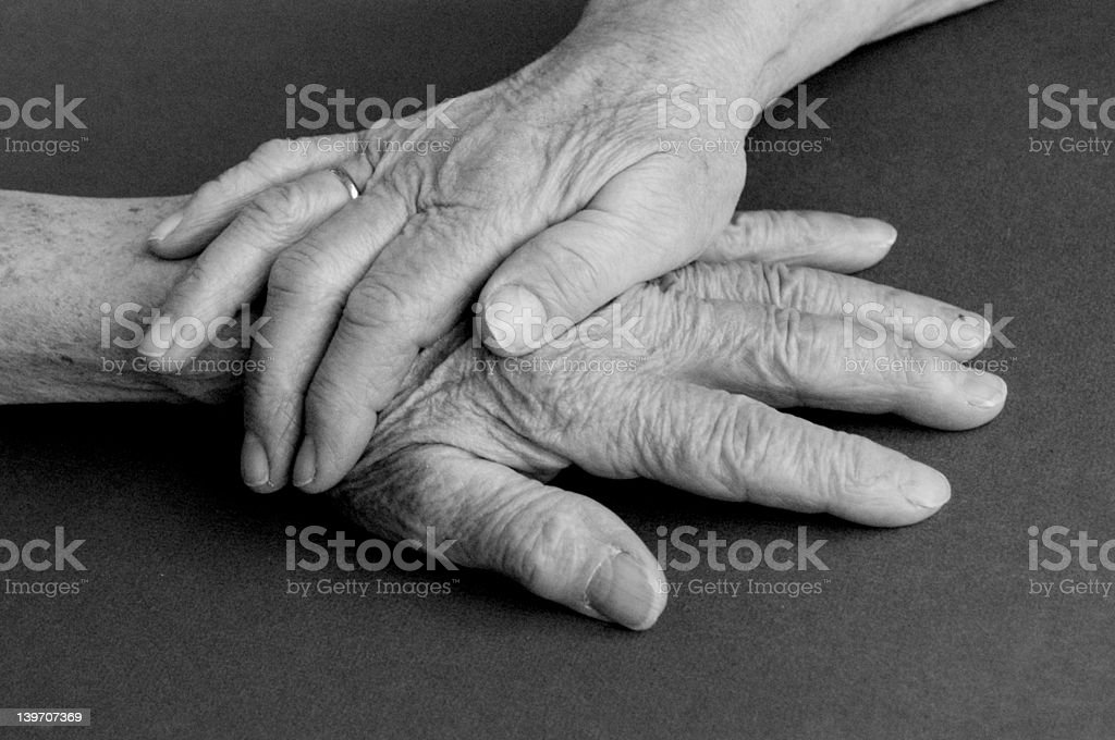 two old hands stock photo