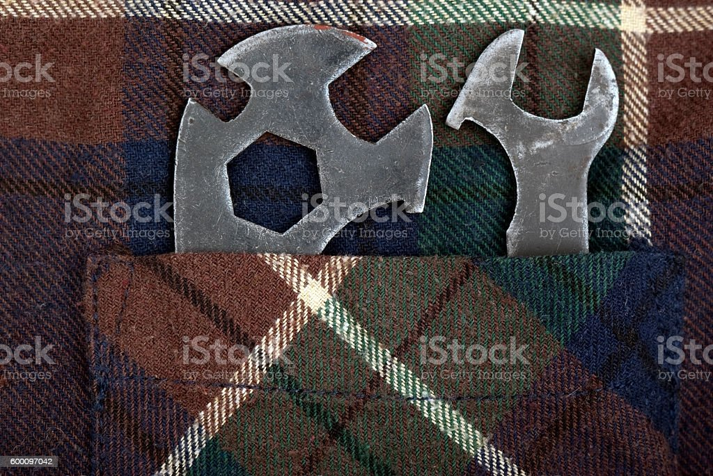Two old keys royalty-free stock photo