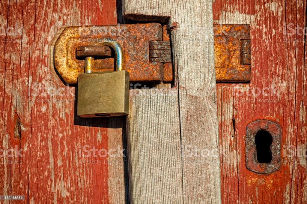 Two old locks royalty-free stock photo