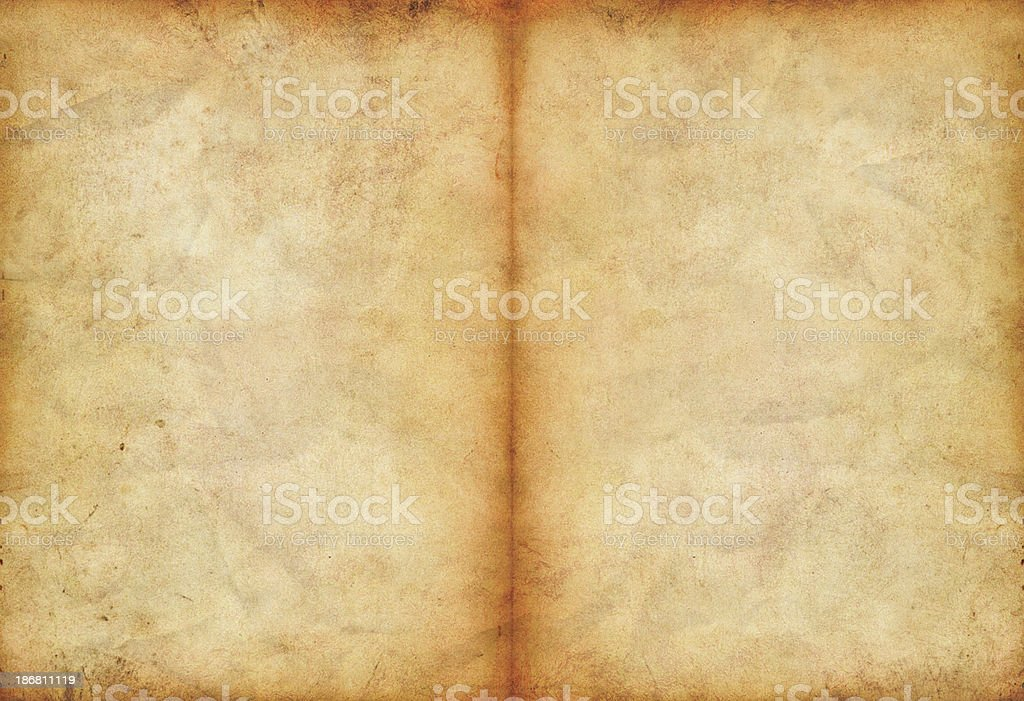 two old pages stock photo