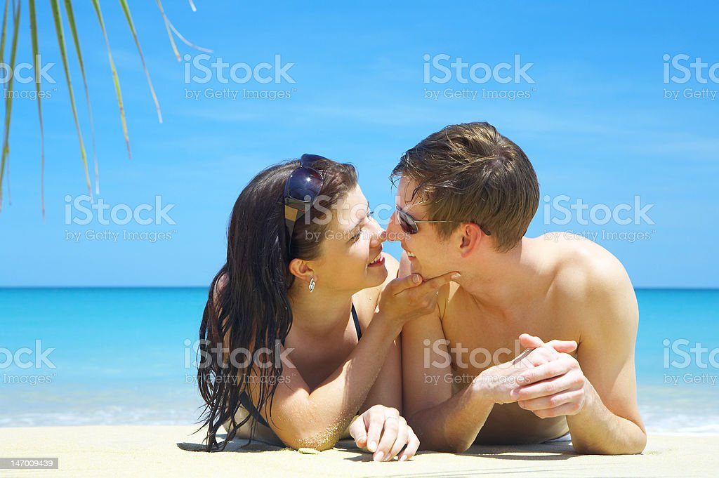 two on beach royalty-free stock photo