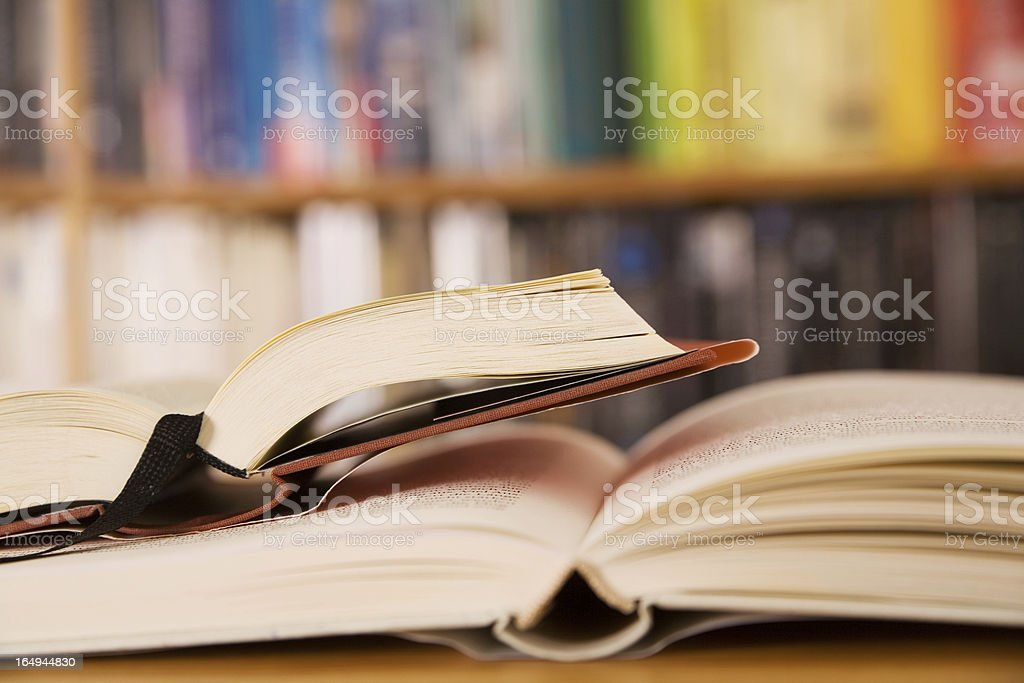 Two open books stock photo