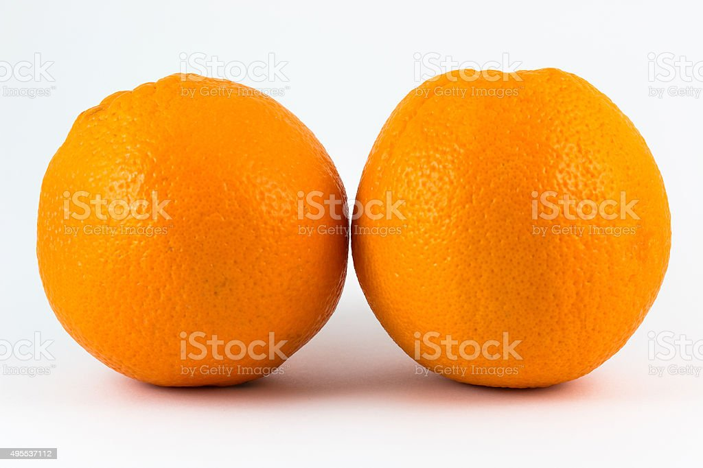 Two oranges. stock photo