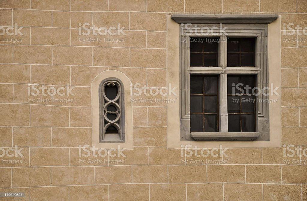 Zwei Enten-gotische Fenster Lizenzfreies stock-foto