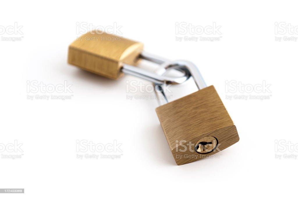 Two padlocks royalty-free stock photo