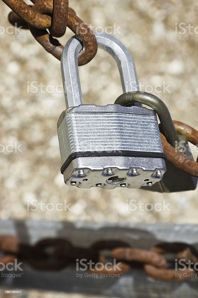 Two Padlocks royalty-free stock photo