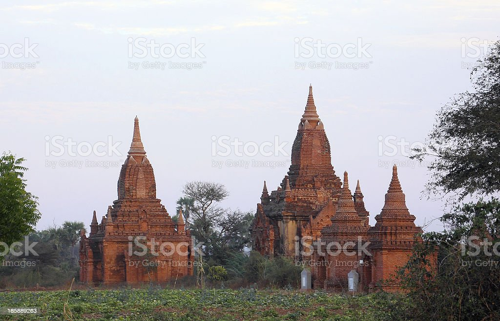 Two pagodas in Bagan royalty-free stock photo