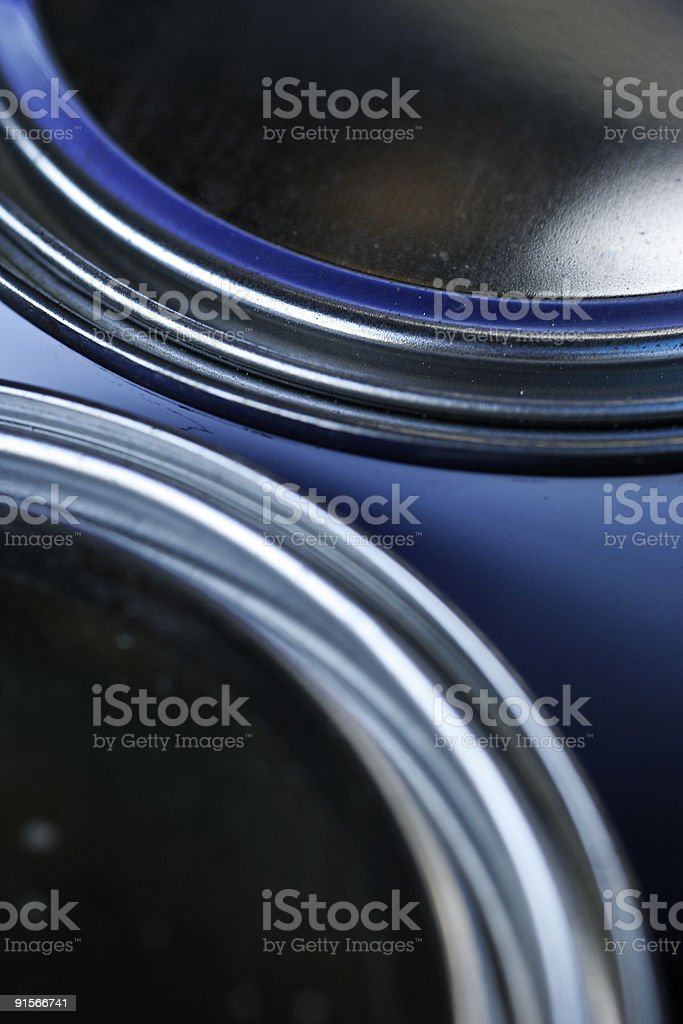 Two paint buckets royalty-free stock photo