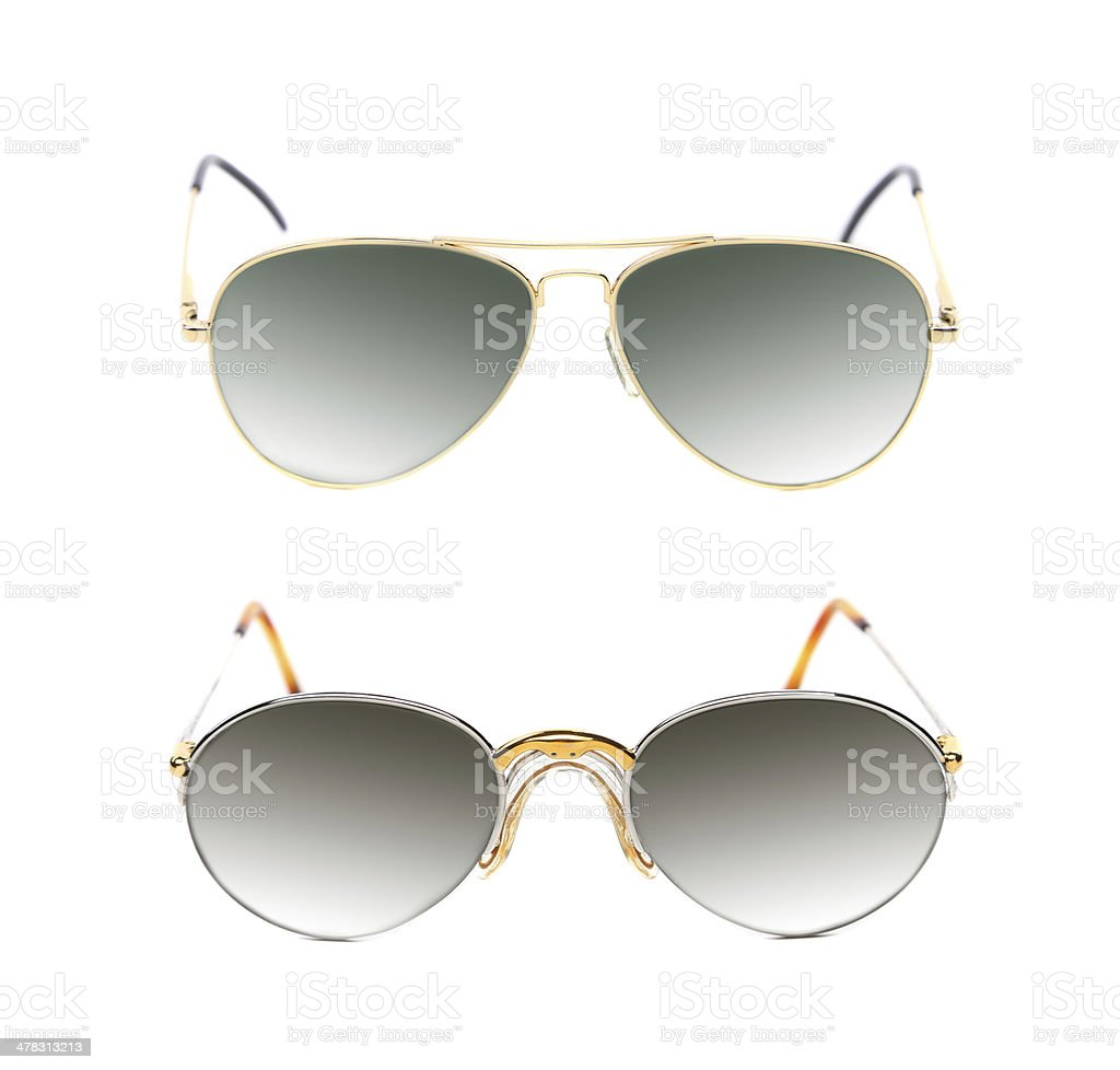 Two pair of sunglasses. royalty-free stock photo