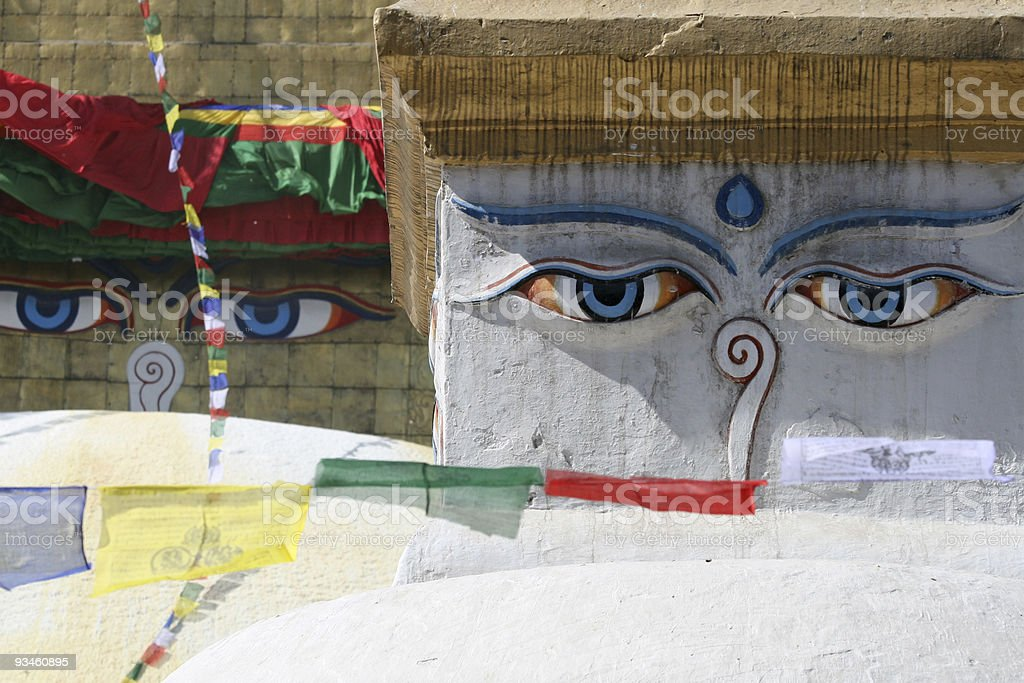 two pairs of Buddha eyes royalty-free stock photo