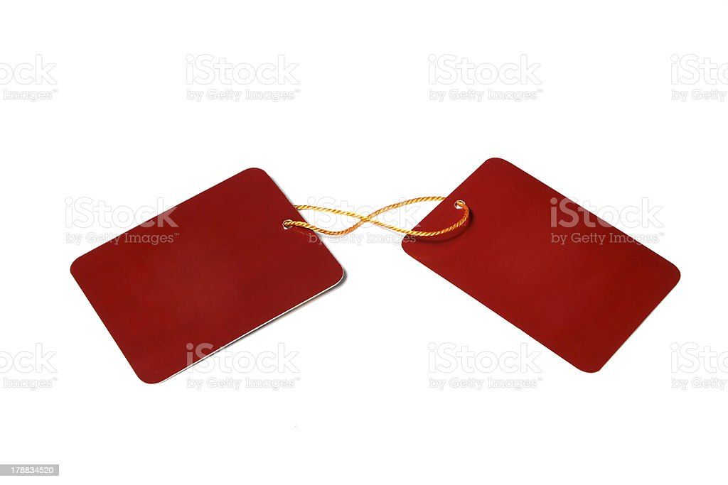 two paper cards royalty-free stock photo