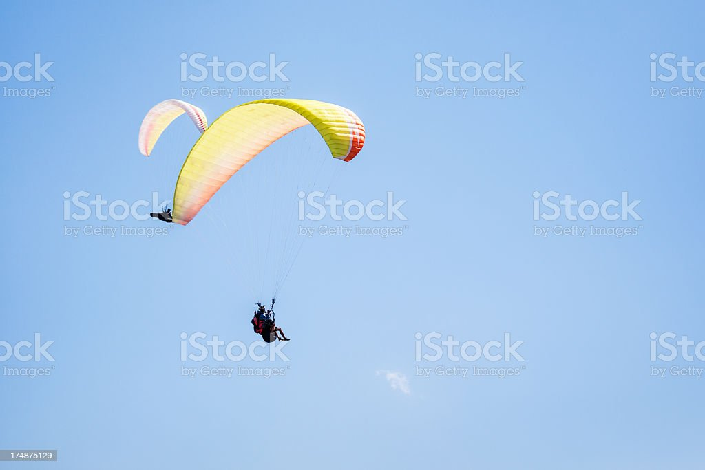 Two Paraglider royalty-free stock photo