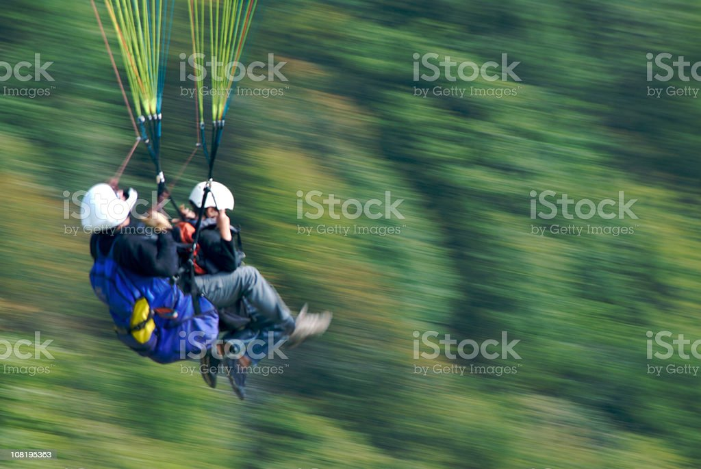 Two paragliders royalty-free stock photo
