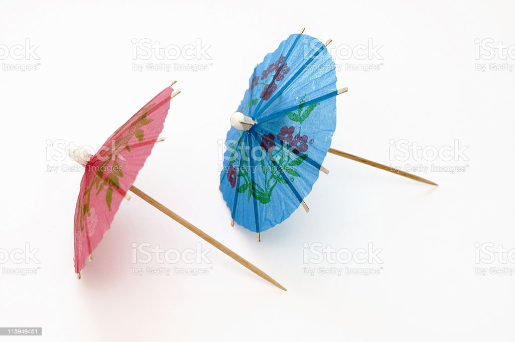 Two Party Umbrellas royalty-free stock photo