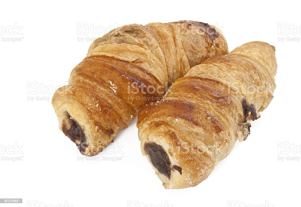 two pastry roll royalty-free stock photo