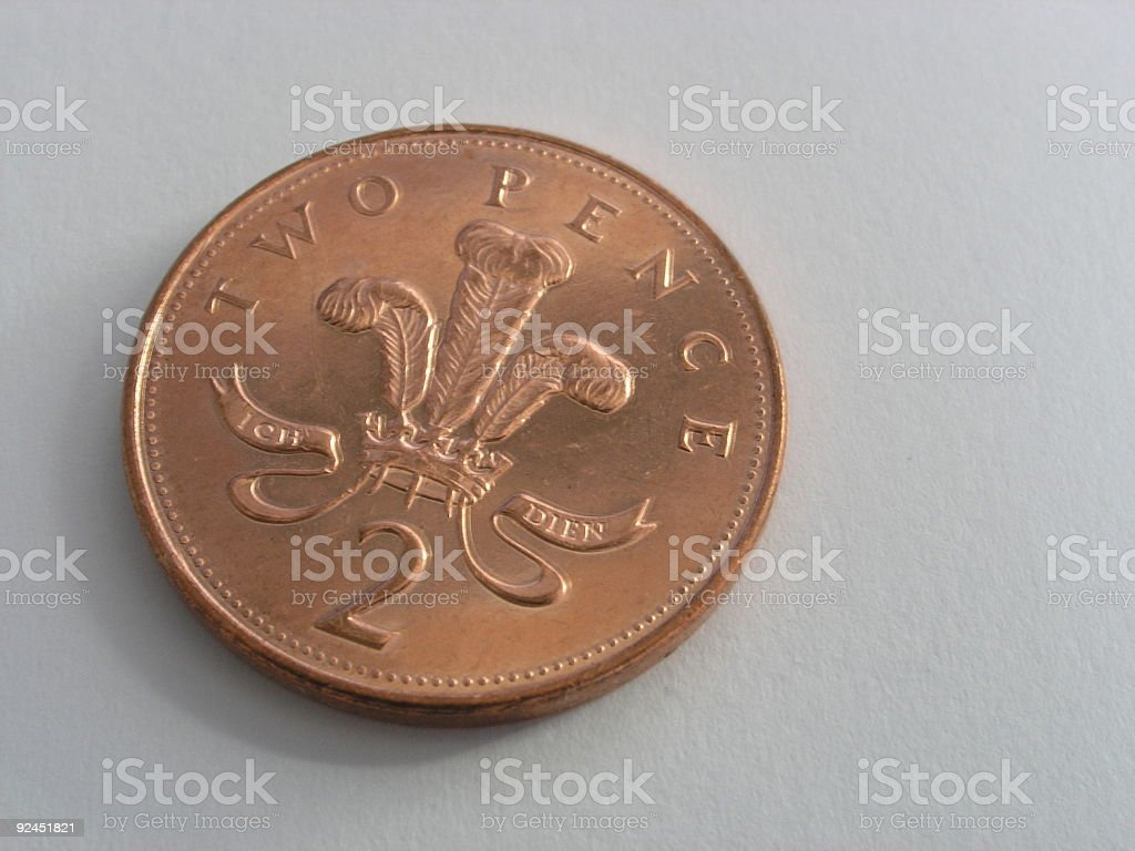 Two Pence royalty-free stock photo