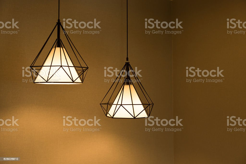 Two pendant lamp. stock photo
