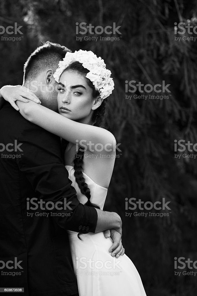 Two people in love stock photo