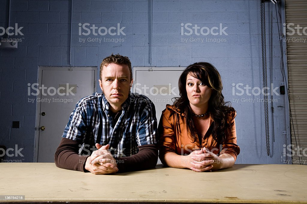 Two people interviewing you royalty-free stock photo