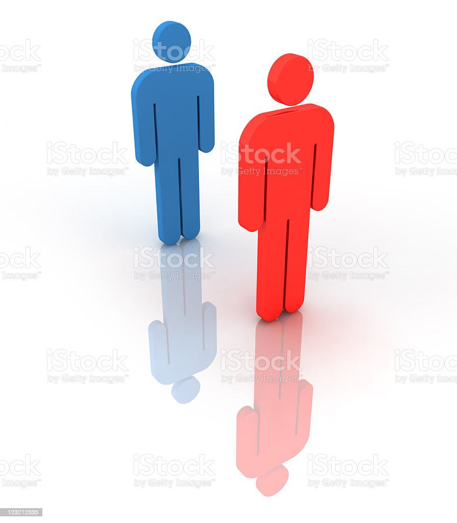Two people meeting or dealing. royalty-free stock photo