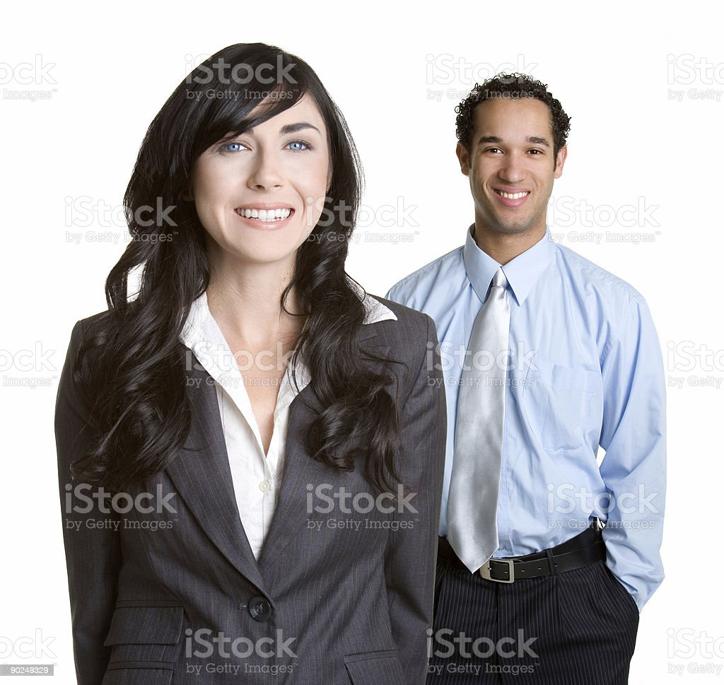 Two people taking a photo while on lunch break royalty-free stock photo