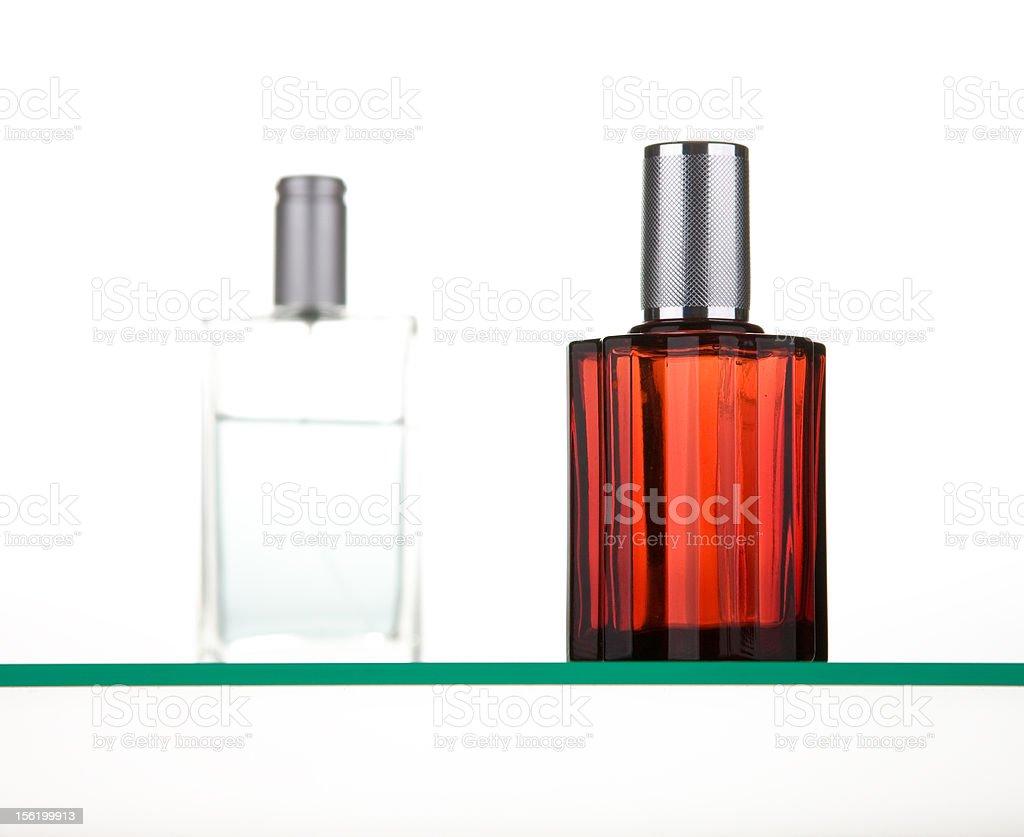 two perfume bottles royalty-free stock photo
