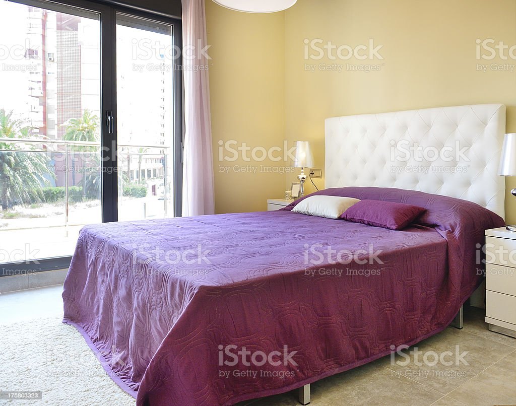 Two person bedroom royalty-free stock photo