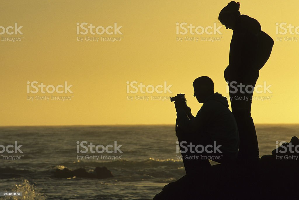 Two photographers royalty-free stock photo