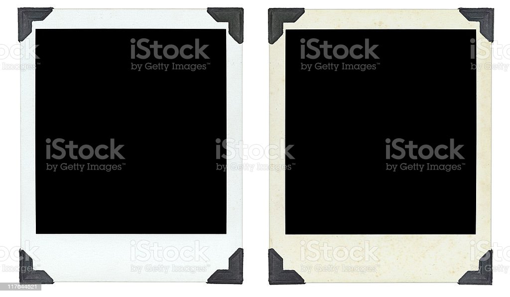 Two Photos clean and dirty stock photo