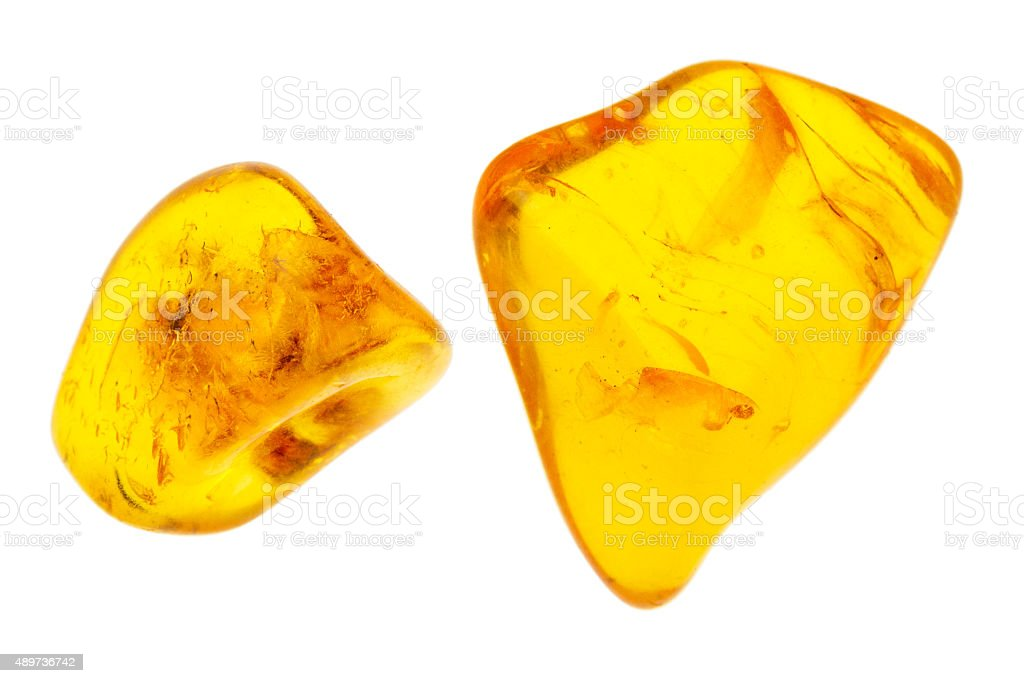 Two pieces of amber stock photo