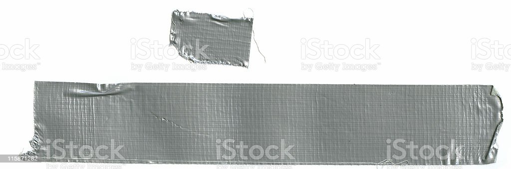 Two Pieces of Duct Tape royalty-free stock photo