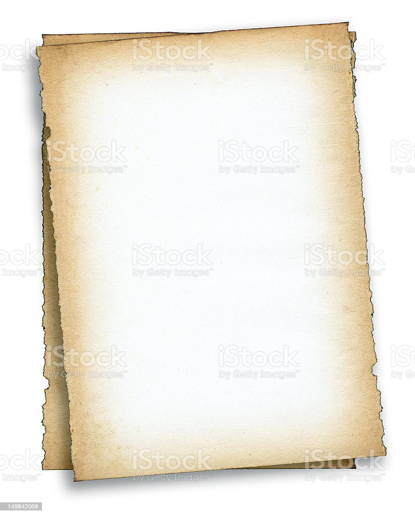 two pieces of old paper royalty-free stock photo