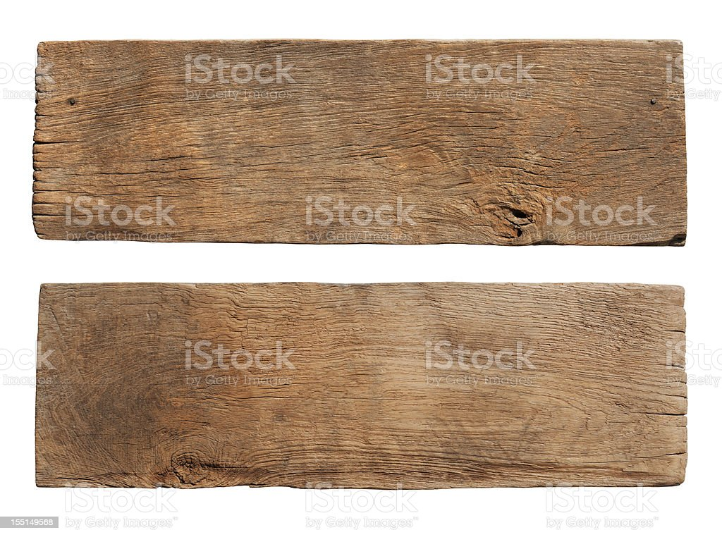 Two pieces of old weathered wood boards. royalty-free stock photo