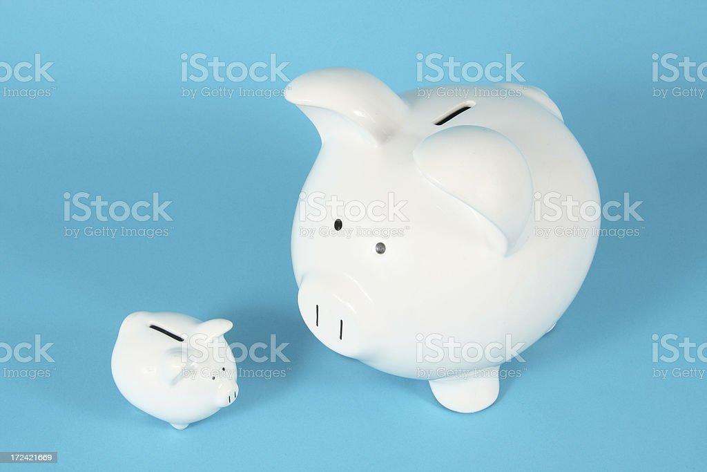 Two Piggy Banks royalty-free stock photo