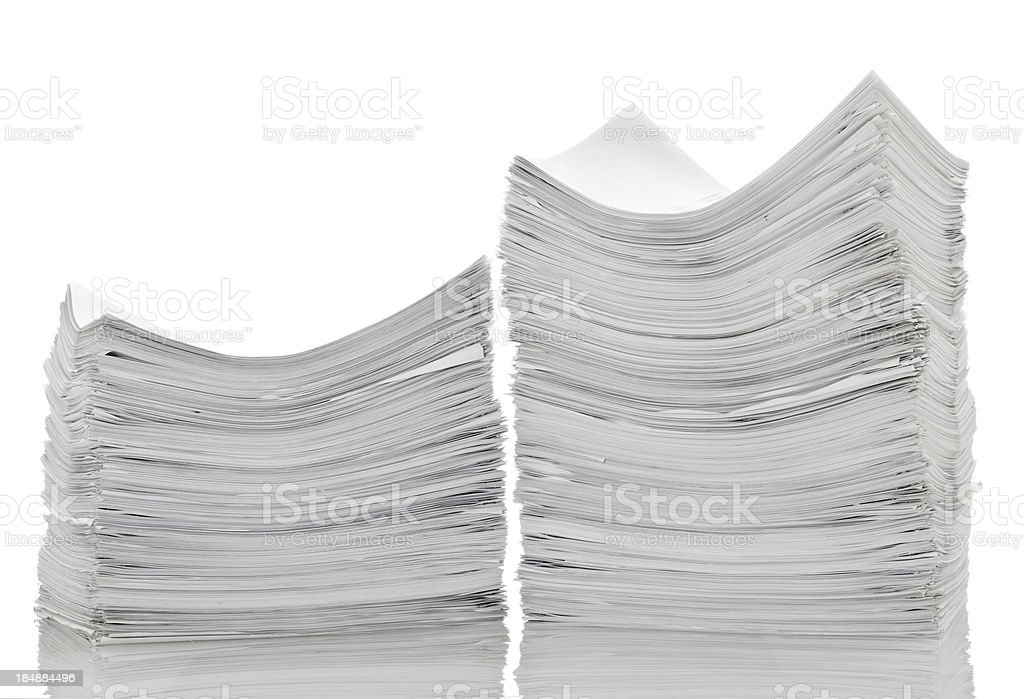 Two pile of papers royalty-free stock photo