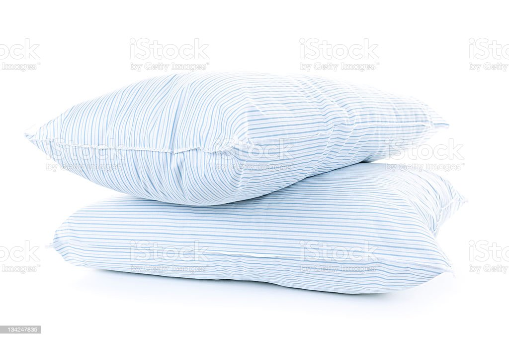 Two pillows stock photo