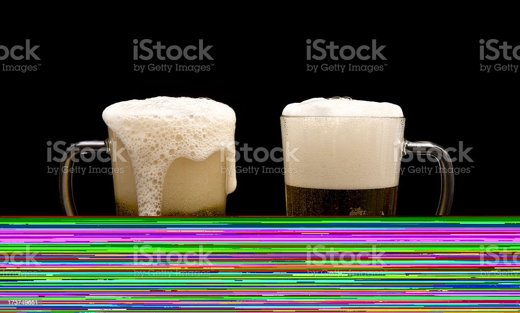 Two Pints of Beer stock photo