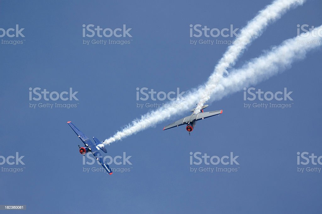 Two Planes at Airshow royalty-free stock photo