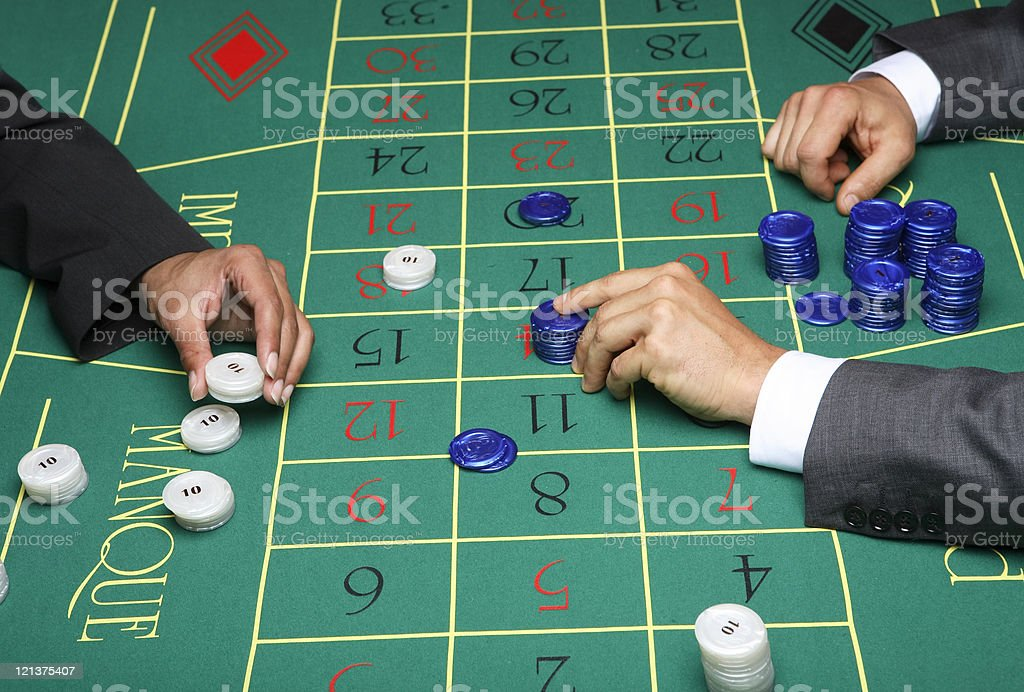 Two Players at the Casino royalty-free stock photo