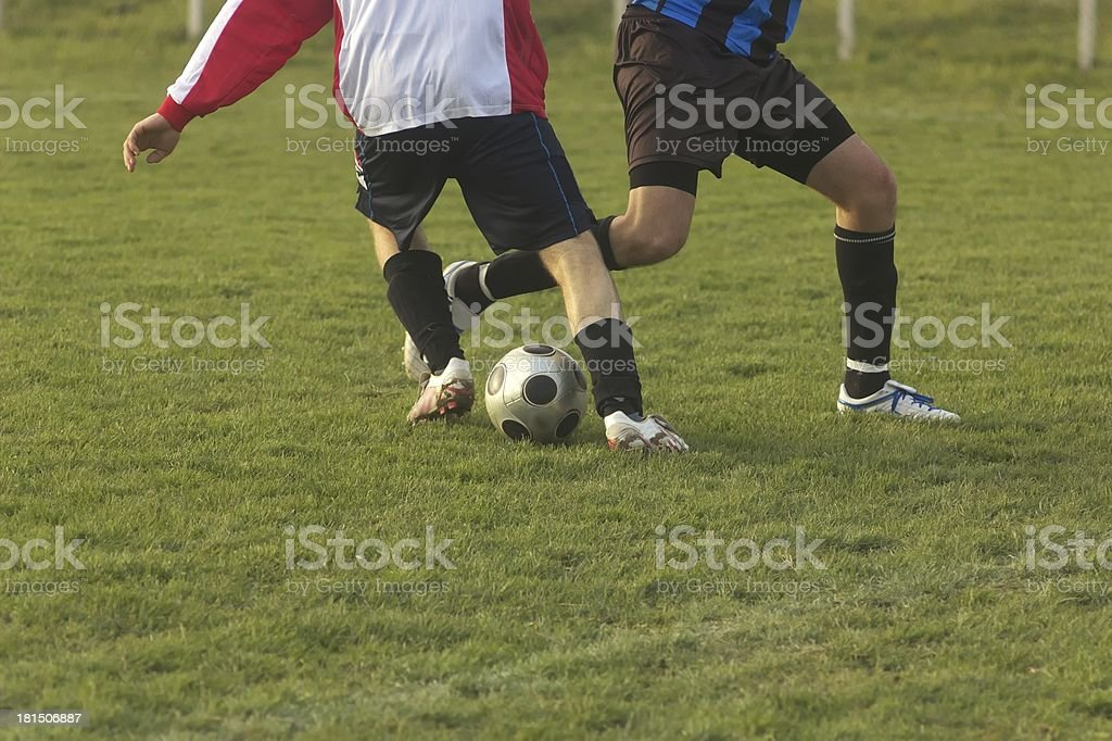 Two players in action royalty-free stock photo