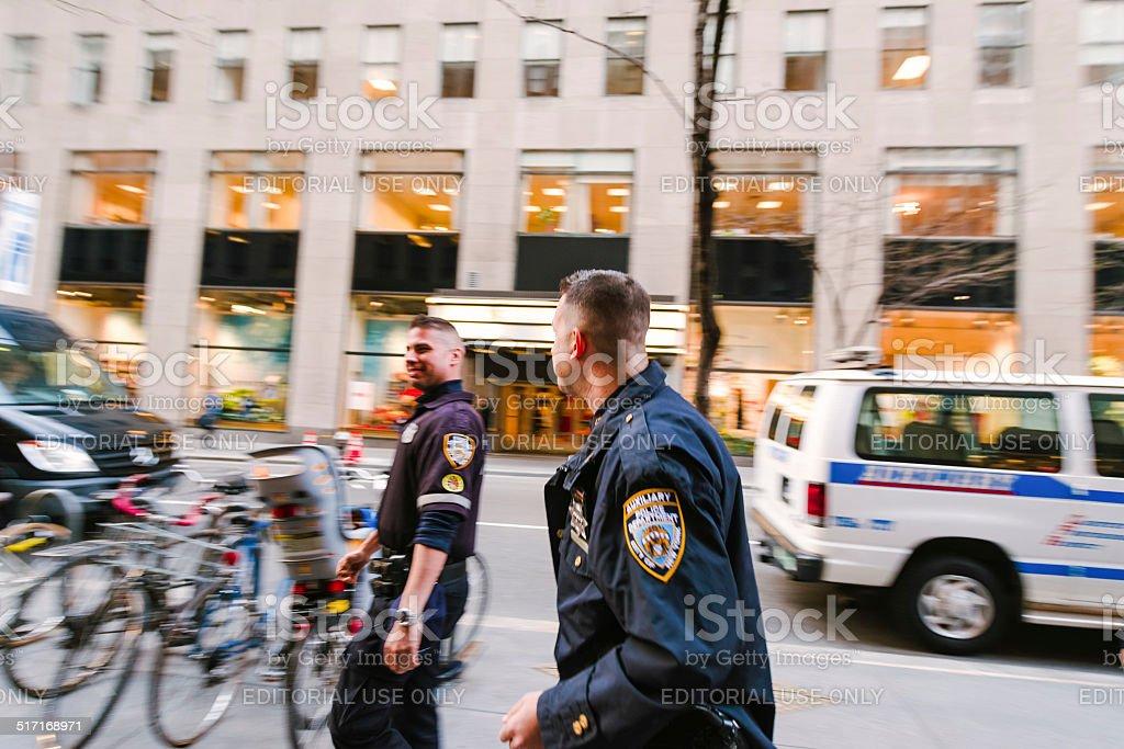 Two police men stock photo