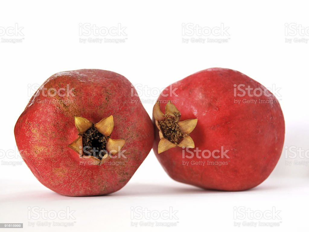 Two pomegranates royalty-free stock photo