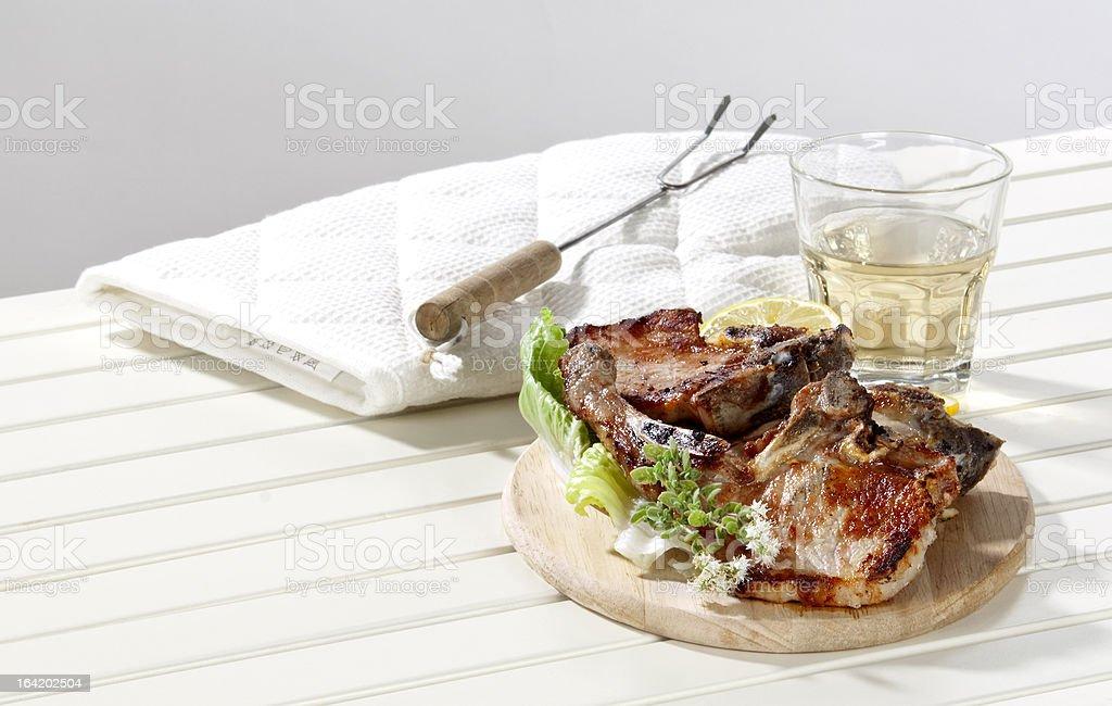 two pork steaks royalty-free stock photo