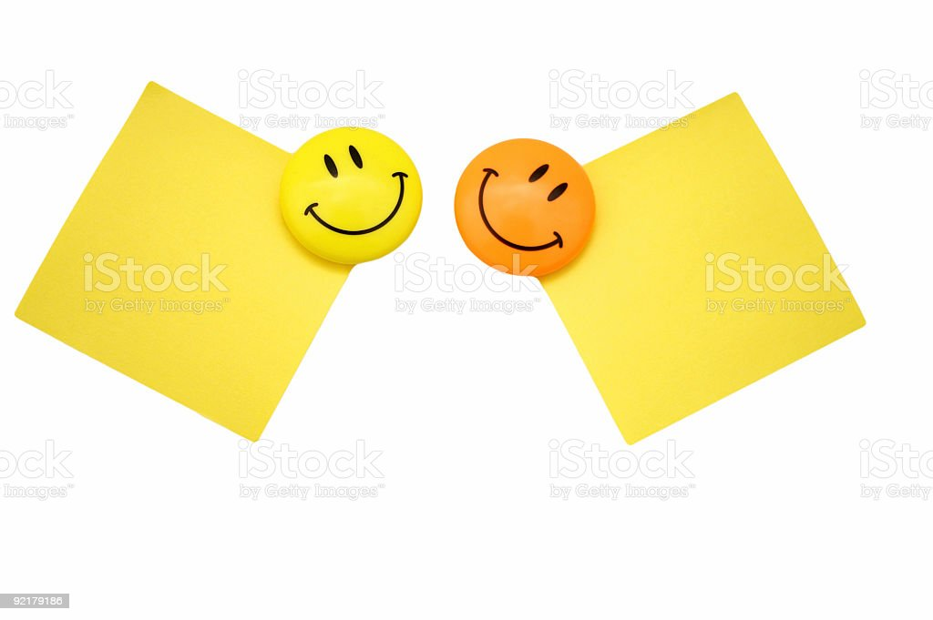 Two positive messages royalty-free stock photo