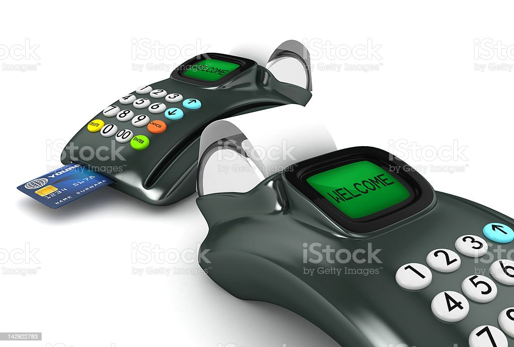Two POS-terminal royalty-free stock photo